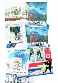 10 different cross country skiing miniature sheets packet